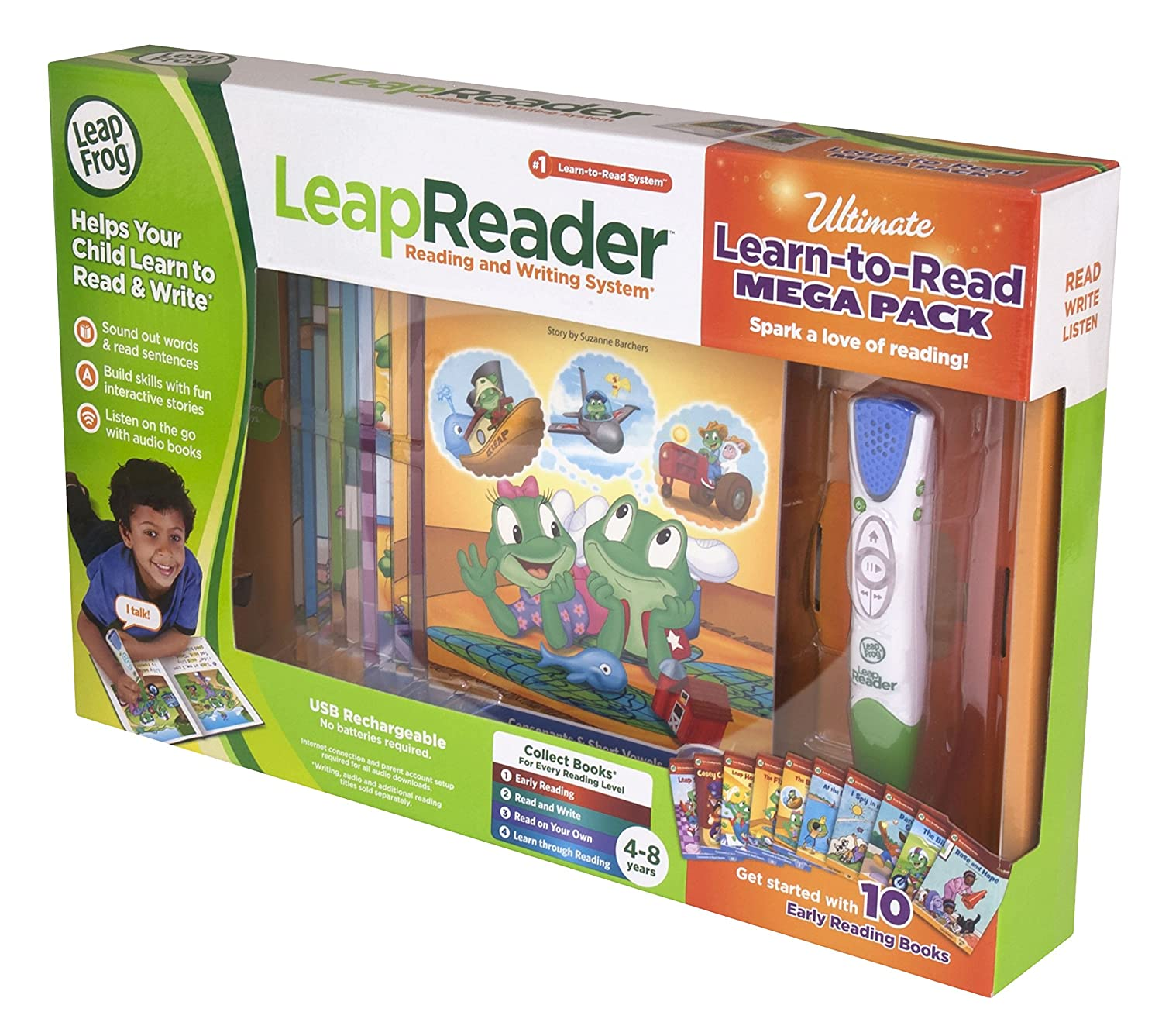 Amazon LeapFrog LeapReader System Learn to Read 10 Book