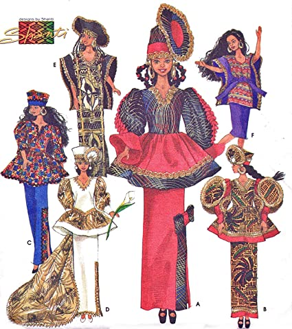 Amazon Simplicity Pattern S60 African Wardrobe 606060 Barbie Cool African Sewing Patterns