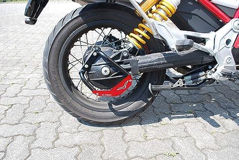 Mytech Kardanschutz Kardan Schutz Schutz Für Kardanantrieb Schwarz Aus Hochfestem Stahl Motoguzzi V85 Tt Rot Auto