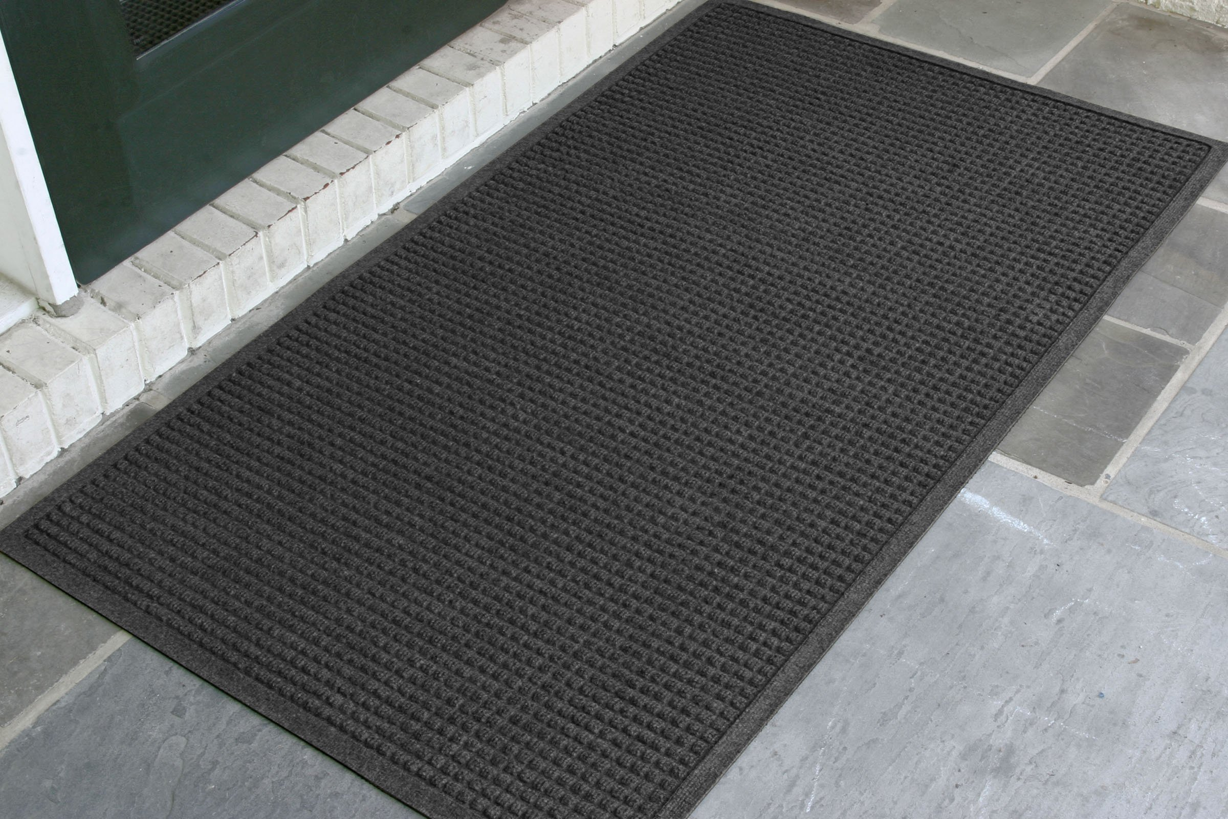 WaterHog Fashion Commercial-Grade Entrance Mat, Indoor/Outdoor Charcoal Floor Mat 5' Length x 3' Width, Charcoal by M+A Matting