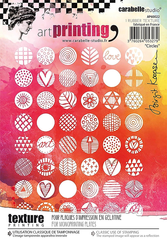 Stoff f/ür Monoprinting mit Gelplatten Carabelle Studio Art Printing Gummistempel Dreiecke
