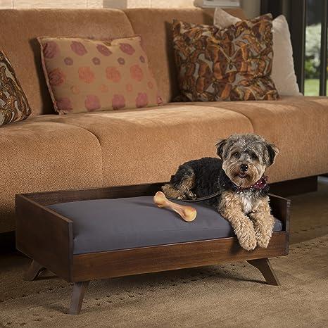 Amazon.com: Darren mid-century Madera de acacia perro cama ...