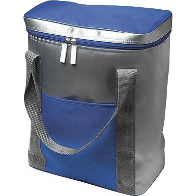1 Grande poche isotherme-capacité : pour 6 x 1,5 l, bouteilles, avec fermeture éclair cordon de serrage 36,0 x 28,5 x 16,5 cm bleu