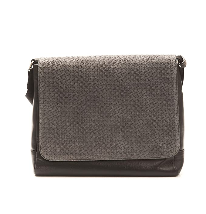 Billionaire Couture Men s MESSENGER NAP-VIT Bag BLACK GRAY Leather 100%  Original  Amazon.ca  Clothing   Accessories e8c5d0a068855