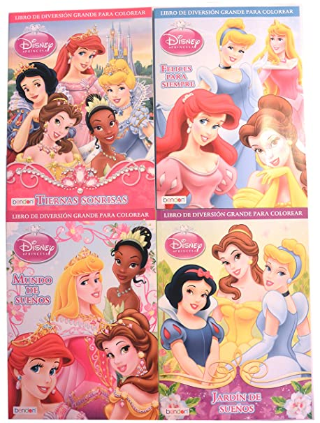 Disney Princess In Spanish Activity And Jumbo Coloring Book Set Of 4