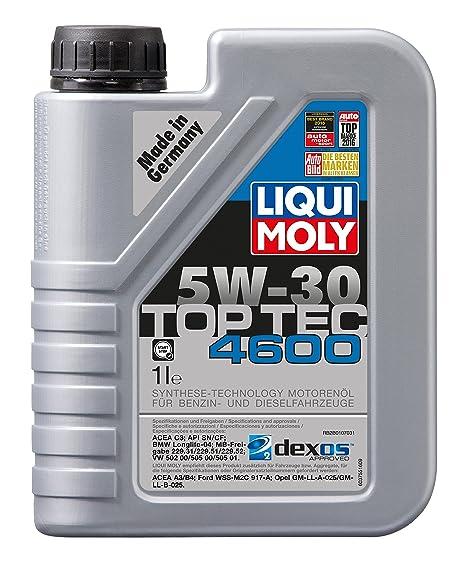 Liqui Moly 3755, Top Tec 4600 5W-30 Aceite antifricción, 1 L