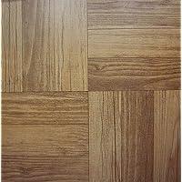 50 baldosas de viniloDiseño de madera oscura; producto