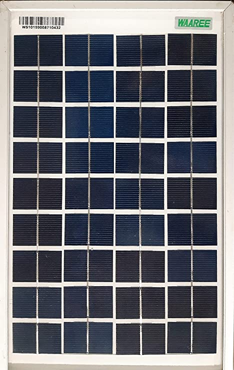 Waaree Solar Panel 10w 12v Amazon In Garden Outdoors