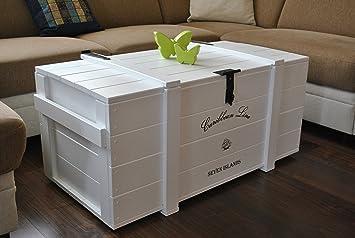 "Woodboox Caja de Madera Mercancías Caja Baúl Mesa Shabby Vintage Rústico Caribe""Carri Caribe"