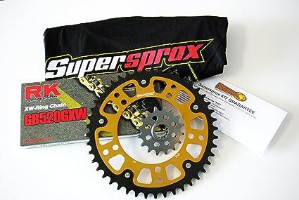 Supersprox Stealth 520 Chain and Sprocket Set for Suzuki GSXR 600  (2006-2010)