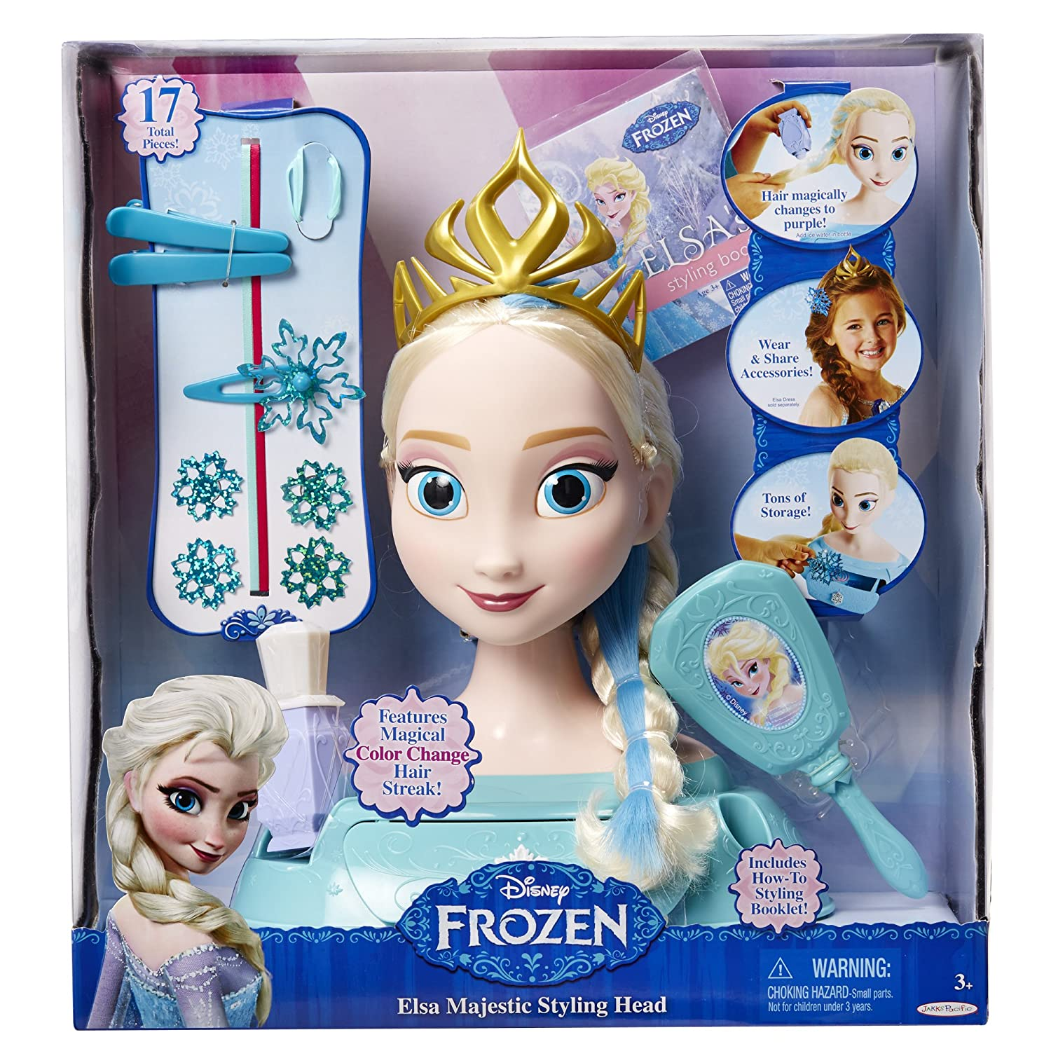 Amazon Frozen Elsa Majestic Styling Head Toys Games