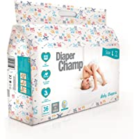 DIAPER CHAMP Baby Diapers (Large, 14kg) - 36 Count