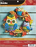 Bucilla Felt Applique Wall Hanging Kit, 17 by 17-Inch, 86562 Owl Wreath