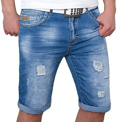71c95f3c56a3 Herren Denim Jeans Shorts kurze Hose Bermuda Sweathose Sommer  H-078-W28-W38  Amazon.de  Bekleidung