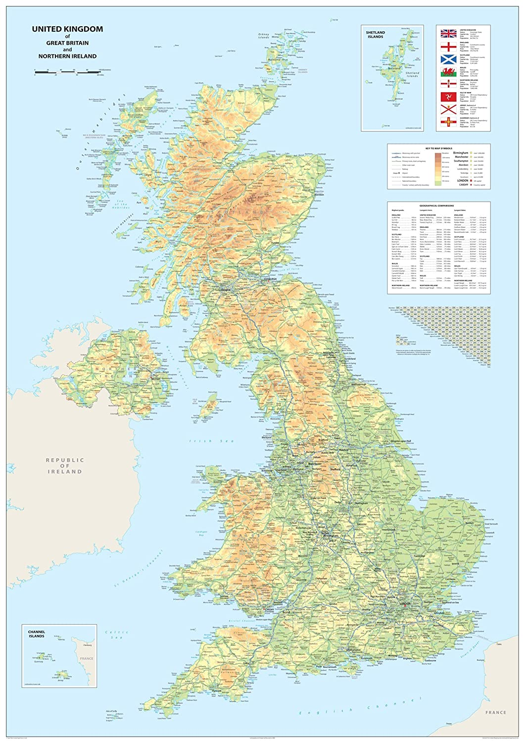 Map Of Northern Ireland And Ireland.United Kingdom Of Great Britain And Northern Ireland Map A0 Size 84 1 X 118 9 Cm