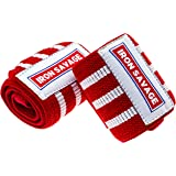 Iron Savage Wrist Wraps For Weight Lifting – 18 inches – Premium Quality Built For Great Wrist Support, Powerlifting, Bodybuilding, Cross Training and Strength Training