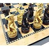 Greek Gods Mythology Set of Chess Men Pieces Hand Painted
