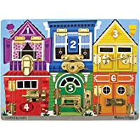Melissa & Doug Latches Board Frustration-Free Packaging Skill Builders Toy