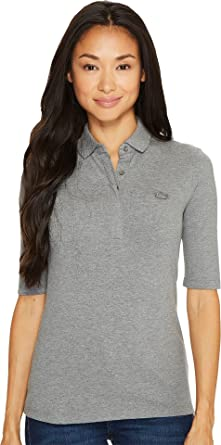 Lacoste Para mujer Classic Half Sleeve Slim Fit Stretch Pique ...