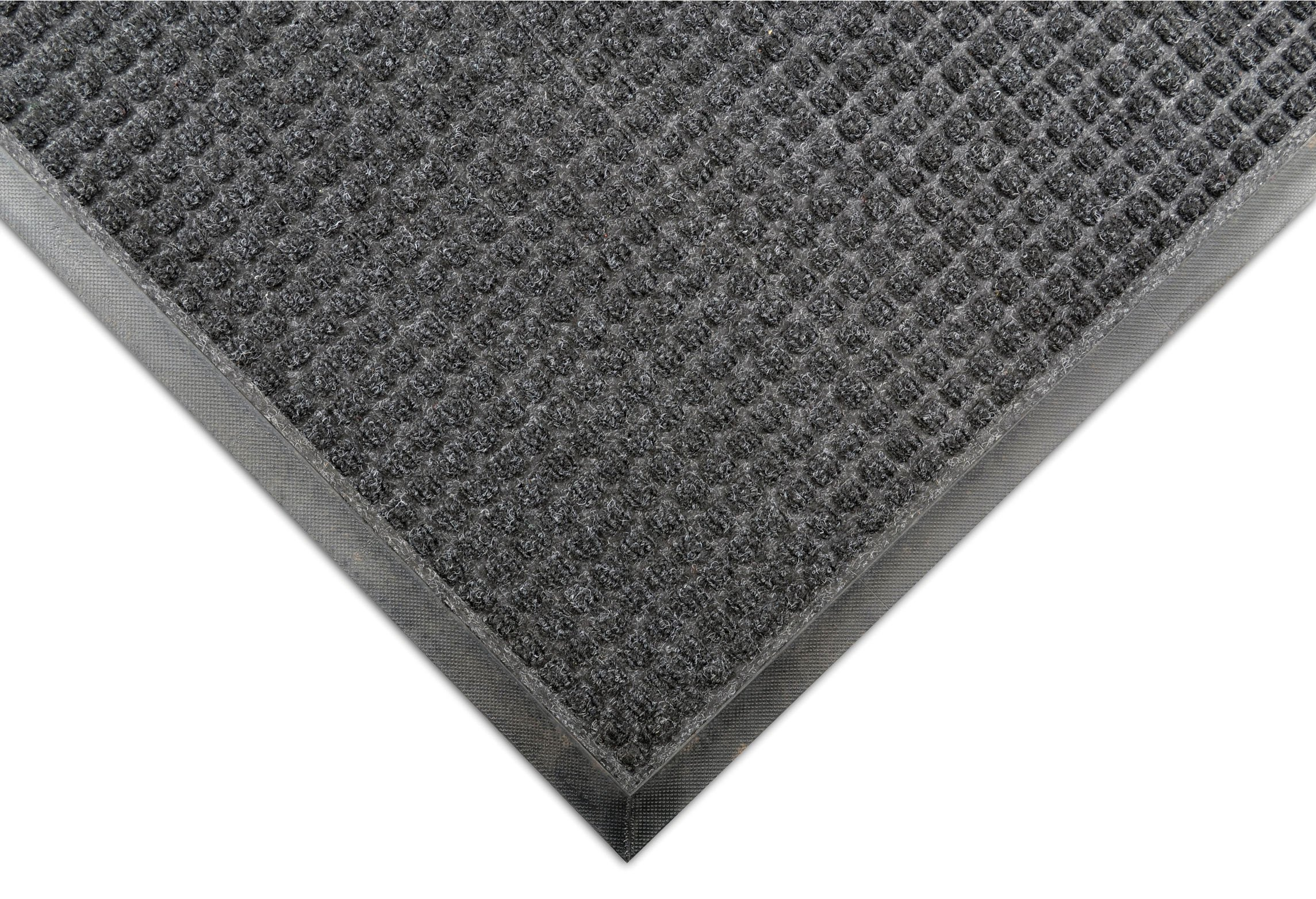Notrax 166 Guzzler Entrance Mat, for Lobbies and Entranceways, 3' Width x 5' Length x 1/4'' Thickness, Charcoal