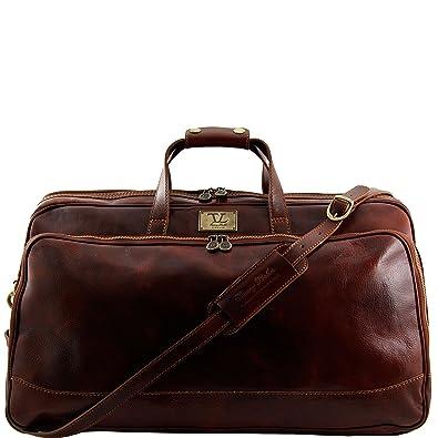810234 - TUSCANY LEATHER: MADRID - Sac de voyage en cuir - Petit modèle, marron foncé
