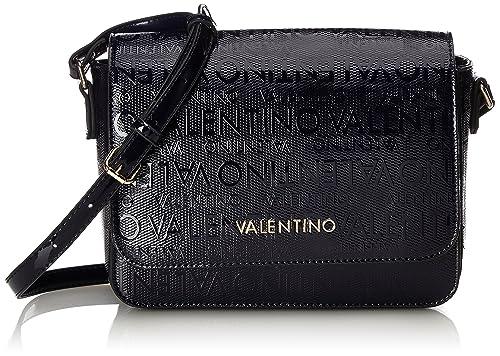 Mario Valentino VBS2C205 - mochila de Poliuretano Mujer, color Azul, talla 9.0x18.