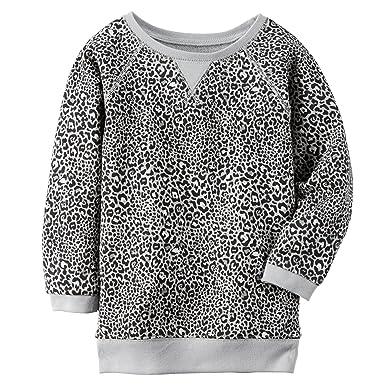 61d2cbbfd8b Amazon.com  Carters Little Girls  Leopard Boatneck Sweater (2T ...