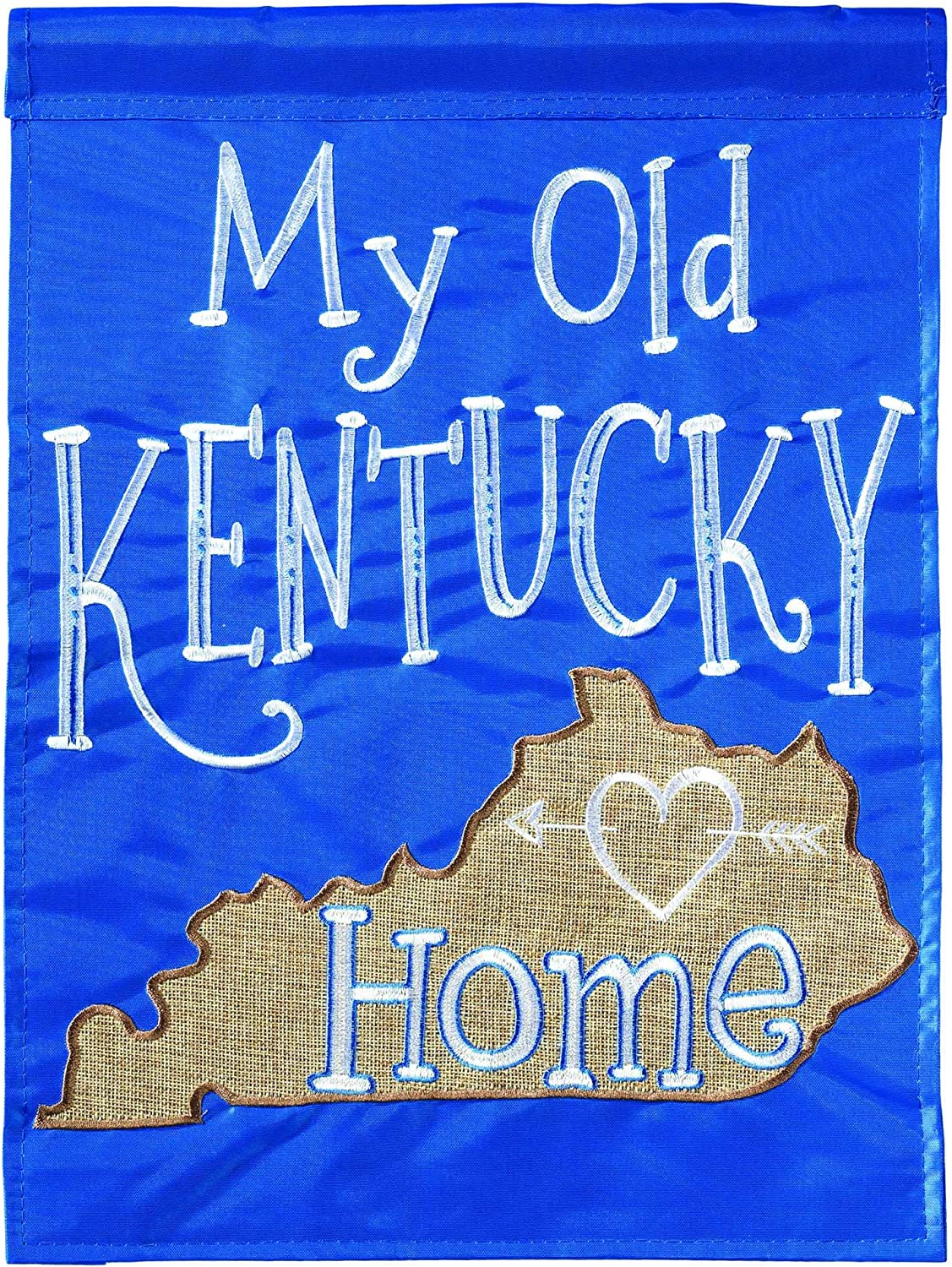 Magnolia Garden My Old Kentucky Home Cerulean Blue 13 x 18 Small Double Applique Outdoor House Flag