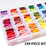 Embroidery Floss Kit DMC Color Code Floss Beginner Embroidery Thread Kit Embroidery Thread Organizer Cross Stitch Kit Assortm