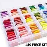 Embroidery Floss Kit DMC Color Code Floss Beginner Embroidery Thread Kit Embroidery Thread Organizer Cross Stitch Kit…