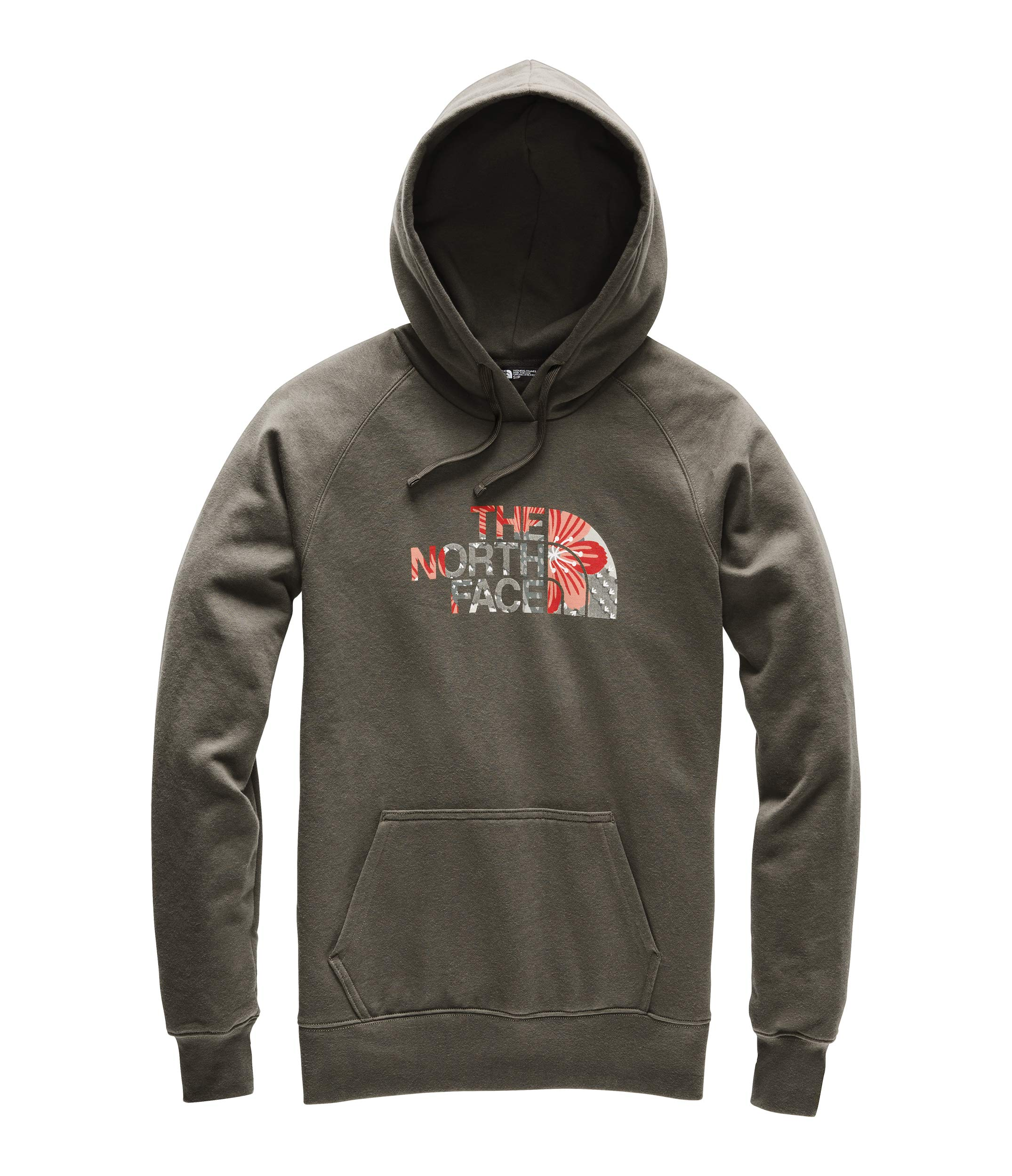 The North Face Women's Half Dome Pullover Hoodie, New Taupe Green/Spiced Coral Desert Floral Print, Size S by The North Face
