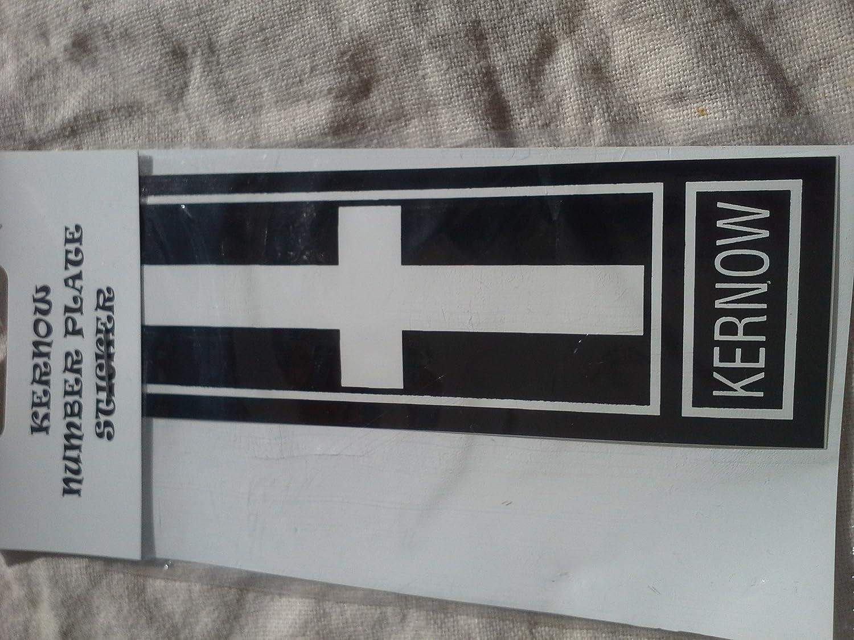 Cornwall Cornish number plate sticker St Piran county flag...