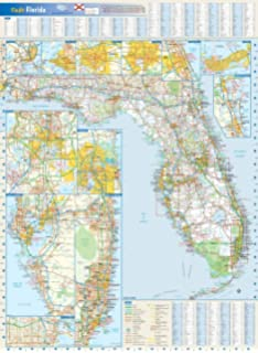 South Florida Zip Code Map.Amazon Com South Florida Zip Codes Map Laminated 36 W X 45 19