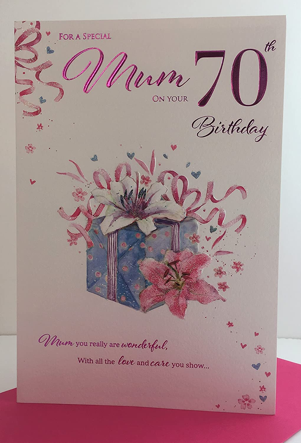 Mum Happy Birthday Card Loving Verse On Paper Insert Feesten Speciale Gelegenheden