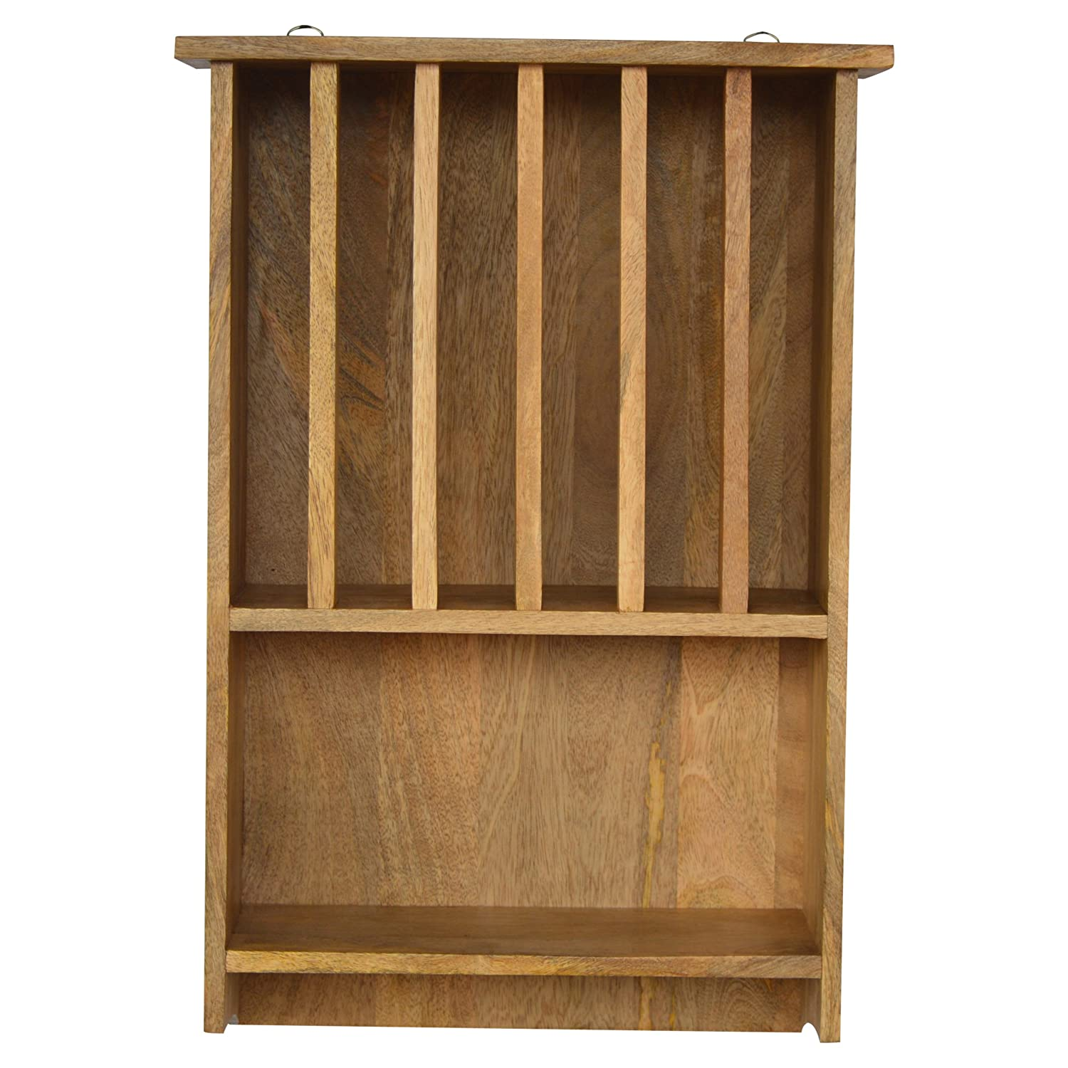 Artisan Furniture Wall Mounted Kitchen Plate Rack, Wood, Natural Oak Finish Global Vision Company IN169