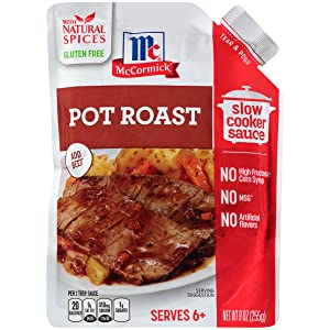 McCormick Slow Cookers Pot Roast Slow Cooker Sauce with Caramelized Onion & Cracked Black Pepper, 9 oz