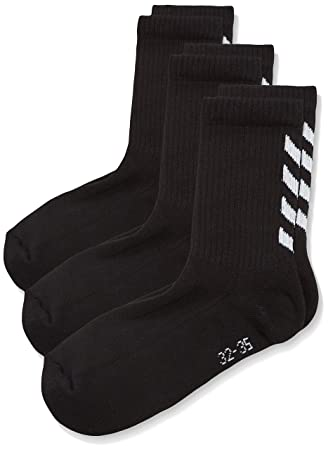 Hummel Calcetines para niños Fundamental 3-Pack de Calcetines, Colour Negro, 8,