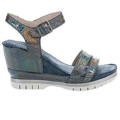 08e9d6b95b22f Nu pieds femme - KHRIO - Bleu - 4909 - Millim  Amazon.fr  Chaussures ...