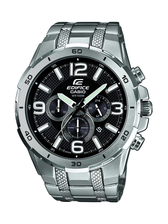 Casio Edifice Herren-Armbanduhr Analog Quarz Edelstahl EFR-538D-1AVUEF