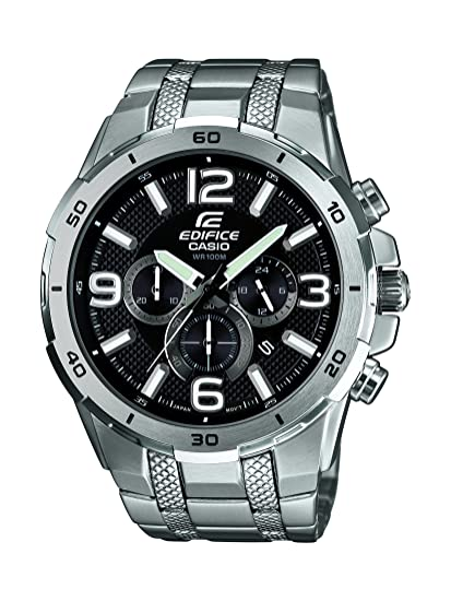 Amazon.com: Casio EFR-538D-1AVUEF Mens Edifice Black Silver Watch: Watches