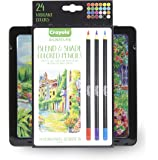 Crayola Blend & Shade Colored Pencils, Professional Style Colored Pencils, Soft Core, 24 Count - 68-2015