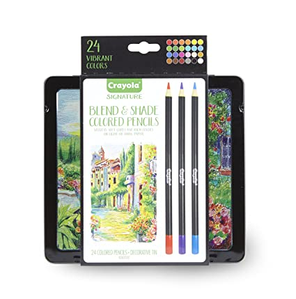 Color Crayola 24 Ct Signature Blend Shade Colored Pencils Blending And Shading Gel
