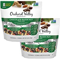 Orchard Valley Harvest, Chocolate Raisin Nut Trail Mix, 1oz (Pack of 16) Non-GMO, No Artificial Ingredients
