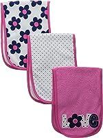 Gerber Baby Girls' 3 Pack Terry Burp Cloths