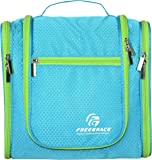 Premium Toiletry Bag By Freegrace - Large Travel Essentials Organizer - Durable Hanging Hook - For Men & Women - Perfect For Accessories, Cosmetics, Personal Items, Shampoo, Body Wash (Aquamarine)