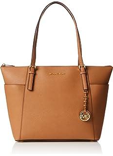 1066e4614c9a Michael Kors Women Jet Set Large Top-zip Saffiano Leather Tote Shoulder Bag