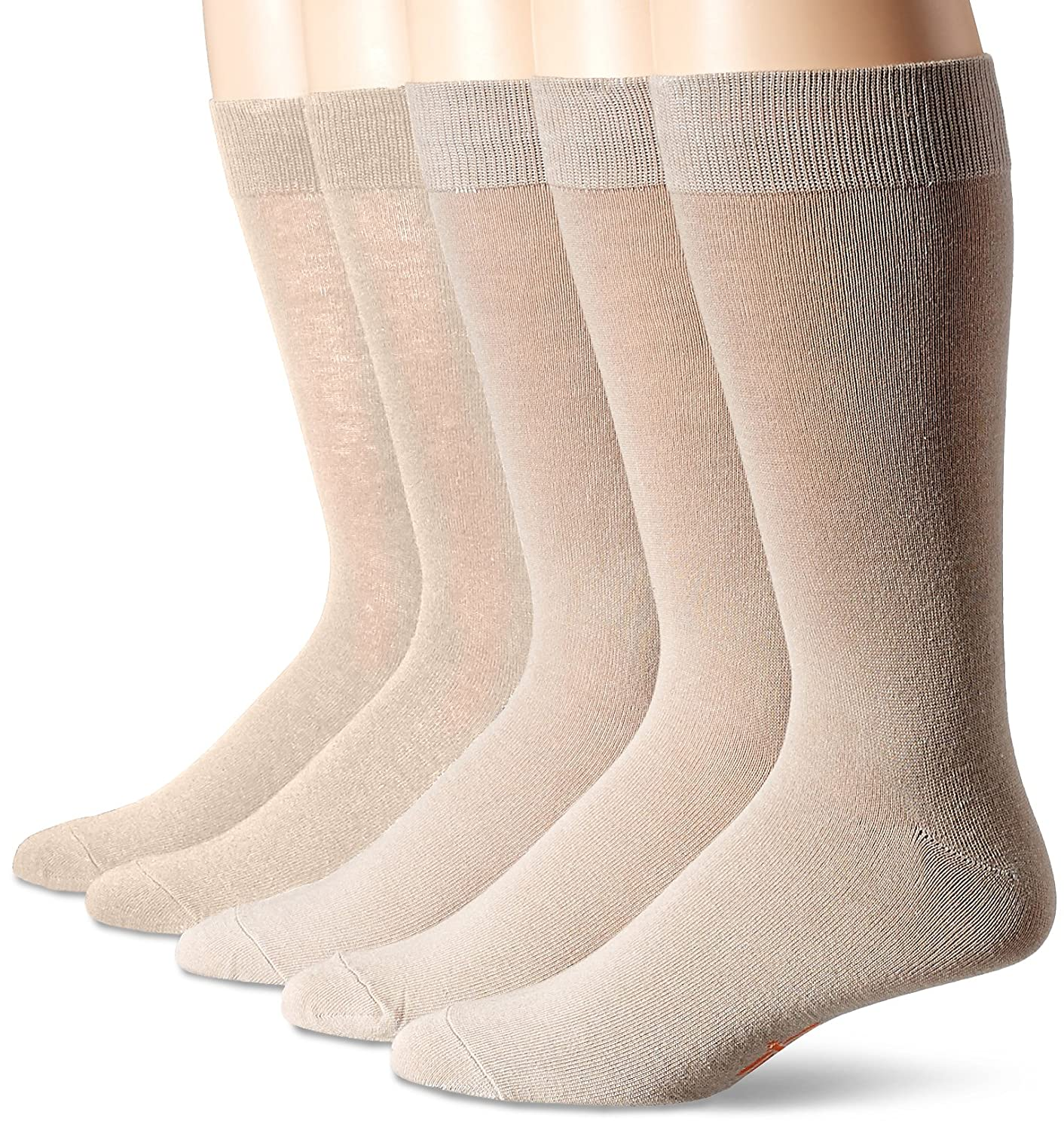 Dockers Men's 5 Pack Classics Dress Flat Knit Crew Socks Royce Too D51005