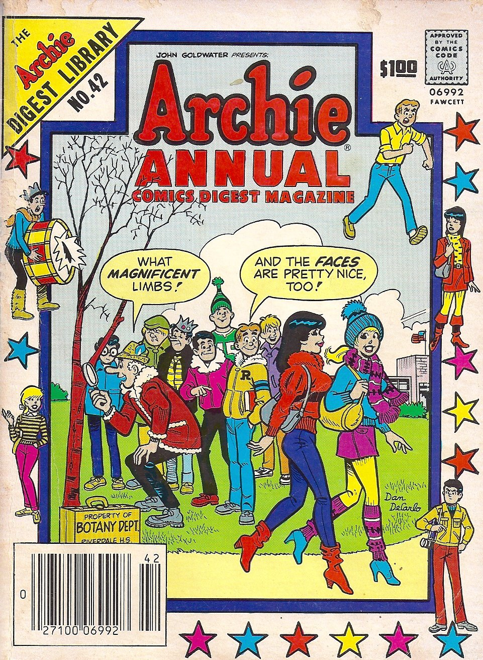 Archie Annual Comics Digest Magazine, Volume 42, 1983 Edition [The Archie Digest Library, 132 Pages], Goldwater, John