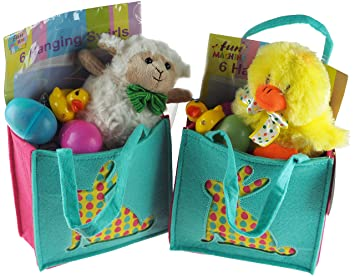Set of 2 pre filled easter goodie bags toys sweets chocolate cuddly animal set of 2 pre filled easter goodie bags toys sweets chocolate cuddly negle Choice Image