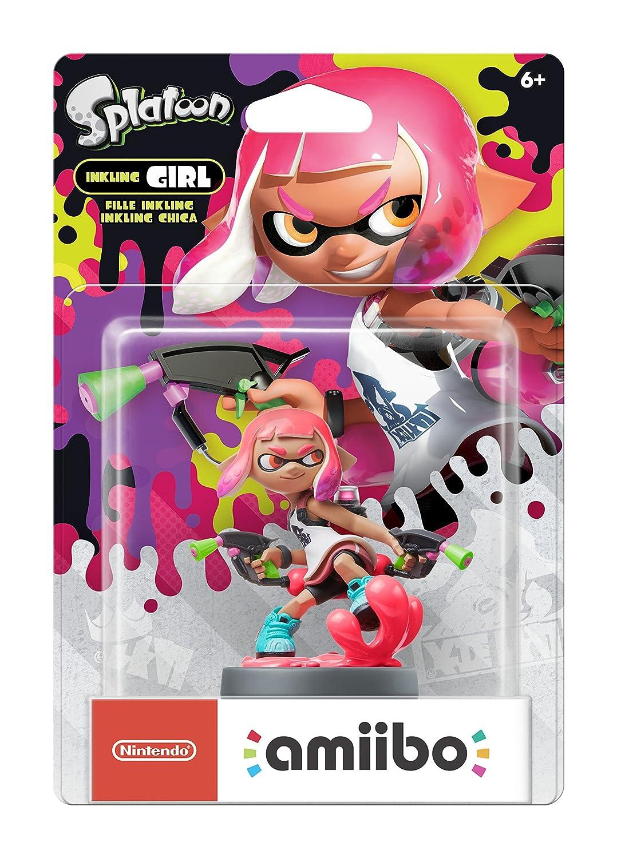 Amazon.com: Nintendo amiibo New Inkling Girl (Neon Pink ...